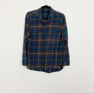 Madewell Plaid Flannel Button Down Shirt Sz S